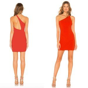 NBD Daxton Mini Ribbed Cutout Dress Bright Red